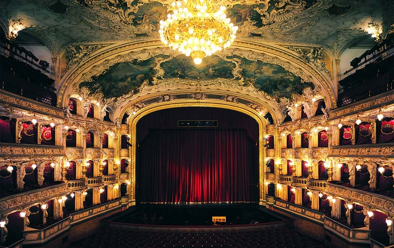 71 - State Opera House, Czech Republic - a spacious auditorium and neo-Rococo decoration (20 km)