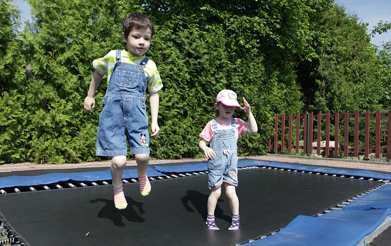Trampolines, of course, delight even the smallest ones