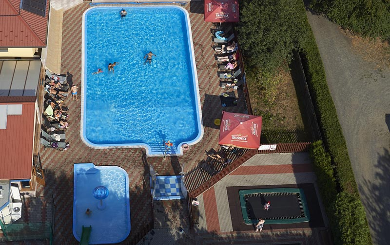 Camping Oase Praha - aerial photography of the swimmingpool